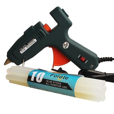 100 WATT INDUSTRIAL Glue Gun High Temperature Hot Melt With 10Pcs Sticks  DIY New