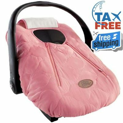 Pink Quilt Warm Soft Cozy Cover Infant Car Seat Carrier Shower Gift Winter Baby