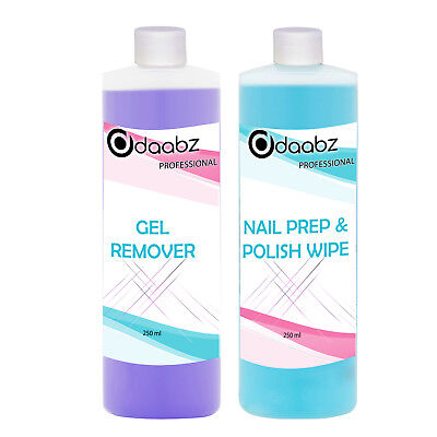 Daabz Gel Polish Prep And Wipe & Remover UV LED Manicure Acetone 250 ml