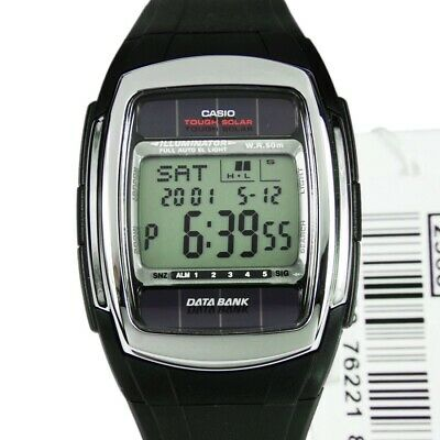 Casio Vintage Data Bank Tough Solar Stainless Steel 30 Page Watch 50M DBE30-1A