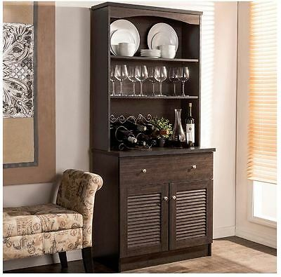 Kitchen Hutch Buffet Table Cabinet Sideboard China Pantry Storage Dining Room