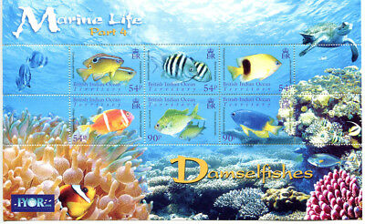 BRITISH INDIAN OCEAN TERRITORY 2008 (BIOT) Damsel Fish Sheet  MNH US-Seller