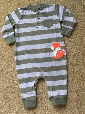 Just One You by Carter's Striped Romper with FOX Baby Boy Size 6 M