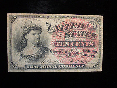 1863 - 4th ISSUE - UNITED STATES 10 CENT FRACTIONAL NOTE - NICE