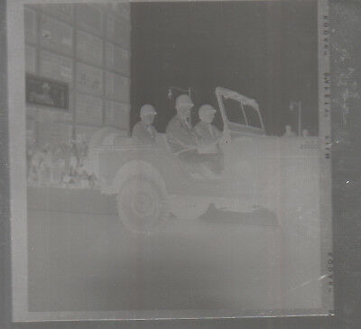 Original WWII Photo Negative US ARMY JEEP in PARADE Downtown Cleveland Ohio 1938