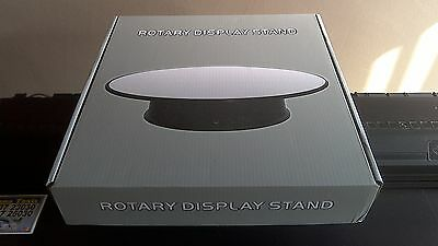 Cheap Large Rotary Display Stand - Approx 12 Inch 30.5Cm With Mirrored Finish.