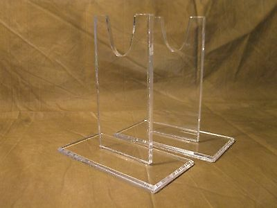 """THREE SETS of  Acrylic 5"""" Antique Sword Bayonet & Bowie Knife Display Stand lot"""