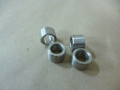 "1/2"" ID X 3/4"" OD X 1/2"" TALL STAINLESS STEEL SPACER / STANDOFF/ BUSHING 4pcs"