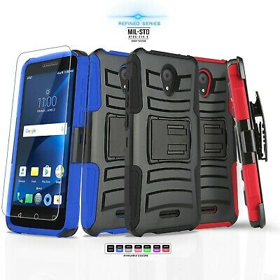 For [Alcatel Cameox / Cameo X] Phone Case [Refined Series] Cover & Holster Clip