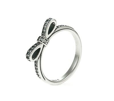 Genuine Pandora Delicate Bow Ring 190906CZ