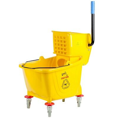 Mop Bucket With Wringer Janitorial Commercial Cleaning Heavy Duty 36Qt Yellow