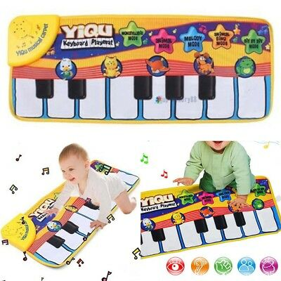 New Musical Music Kids Piano Play Baby Mat Animal Educational Soft Kick Toy