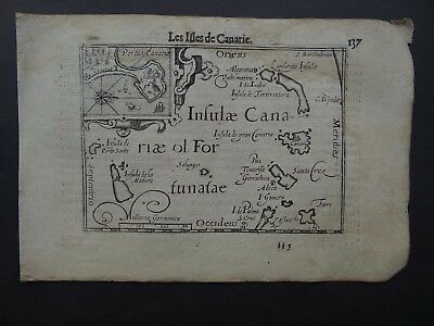 c1600 Langenes Atlas map  CANARY ISLANDS - Isles de Canarie