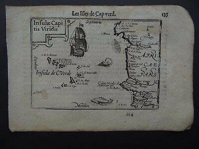 c1600 Langenes Atlas map  CAPE VERDE ISLANDS - Isles Cap Verd - Capitis Viridis