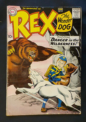 Rex the Wonder Dog #45 ! DC 1959 ! OFF-WHITE PAGES ! KANE ! INFA ! hayfamzone