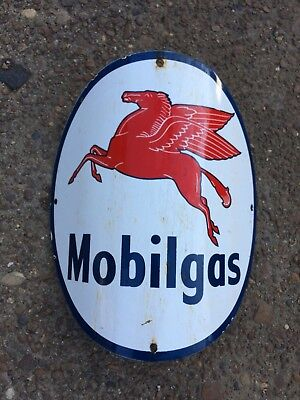 Visible Gas Pump Sign Mobil Mobilgas