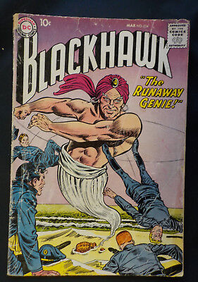 Blackhawk #134 ! DC 1959 ! DICK DILLIN ! NICE INTERIOR PAGES but... hayfamzone