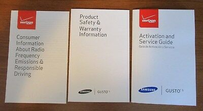 Verizon Samsung Gusto 3 owner/user manuals set
