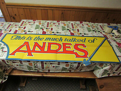 Rare 1930's Andes Stove & Range Co Advertising Sign Poster Original