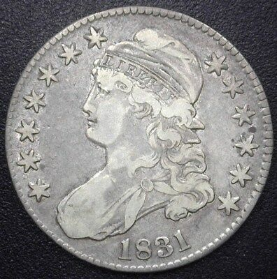 1831 Capped Bust Silver 50 Cents  Choice Extremely Fine