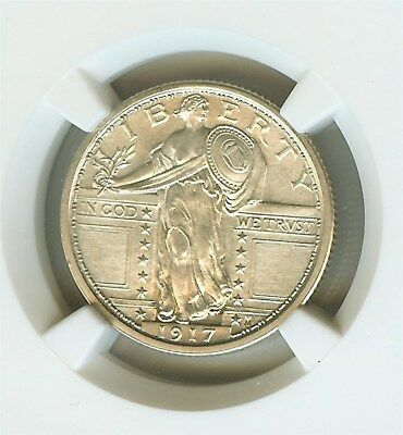 1917 Standing Liberty Silver 25 Cents Type 1  Ngc Ms64 Full Head Rare This Nice!