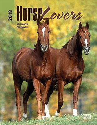 Horse Lovers 2018 6 x 7.75 Inch Weekly Engagement Calendar, Animals Horses Eques