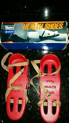 NOS  Vintage Red York Health Shoes Cast Iron  Shoes with Original Box