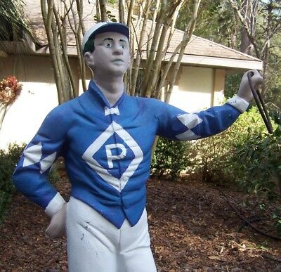 "Vintage Cast Aluminum Lawn Jockey 45"" inches Tall"