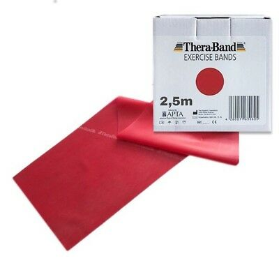 ORIGINAL Thera-Band ® Übungsband mittel, rot 2,5 m Theraband Thera-Band 2,5m