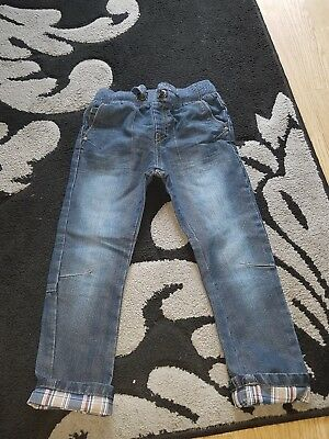 boys black trendy jeans age 3-4 years from matalan
