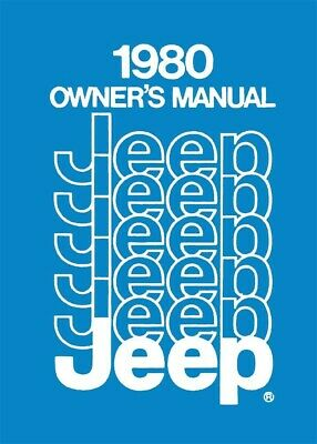 1980 Jeep Owners Manual User Guide Reference Operator Book Fuses Fluids OEM