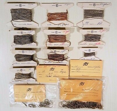 Large Lot Vtg Nos Jewelers Fuller's Findings Jewelry Gold & Nickel Plated Chains