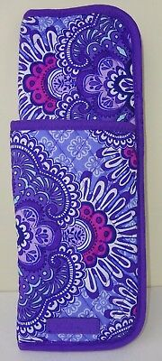 NWT Vera Bradley Curling & Flat Iron Cover LILAC TAPESTRY Travel SHIPS FREE