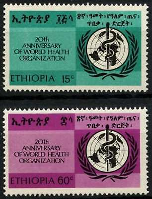 Ethiopia 1968 SG#701-2, 20th Anniv Of WHO MNH Set #D61896