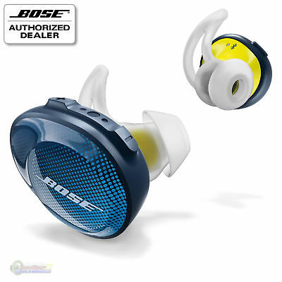 Bose SoundSport Free Wireless Headphones - Midnight Blue / Citron