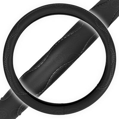 Touring Grip Steering Wheel Cover for Car SUV Black Double Stitched Guard Cover