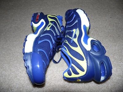 NEW SZ 5 Y Youth TN Tuned Nike Air Max Plus GS Navy Blue Yellow White 655020 407