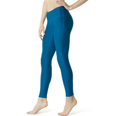 Tesla FYP41 Women's Mid-Waist Ultra-Stretch Yoga Pants - Solid Deep Blue