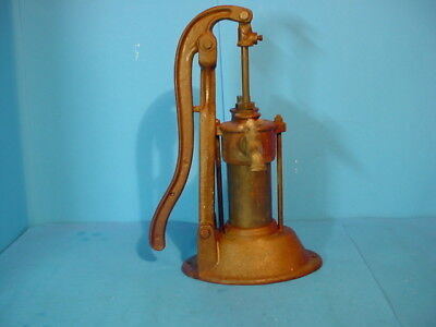 Vintage Cast Iron & Brass Farm Well Water Hand Pump
