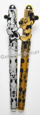 Disney Good Quality Mickey Minnie Pen Set- Gold And Silver 2 Pc