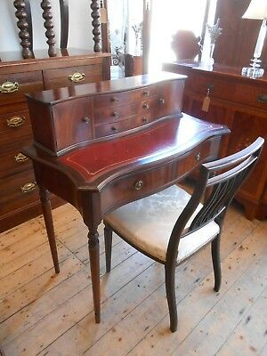 20th Century Mahogany Serpentine Front Ladies Writing Desk