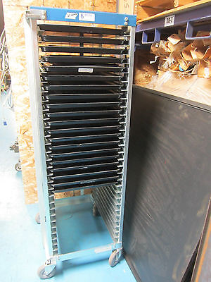 Bliss Chrome Product Tall Rolling  Rack W/ 20 Trays