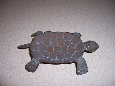 Vintage Brass Turtle Soap Dish