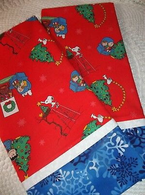 PEANUTS Christmas Pillowcase Boutique Standard Bedding Snoopy Charlie Brown Tree