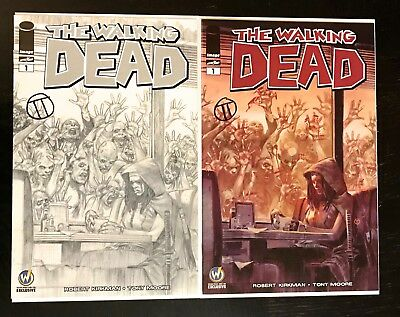 The Walking Dead #1 Ft Lauderdale Wizard World Color & B/W signed 1st Tedesco