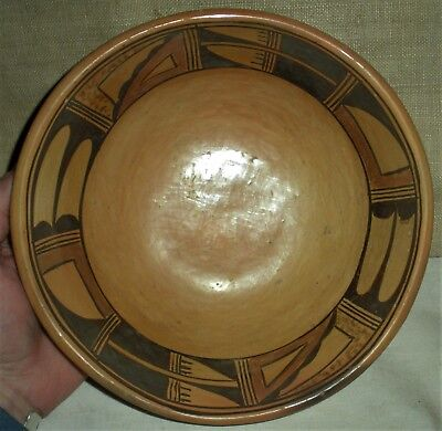 ANTIQUE c. 1930S HOPI INDIAN POTTERY BOWL BOUGHT AT GILCREASE MUSEUM vafo