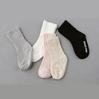 Kids Socks For Boys Girls Toddler Solid Color Cotton Baby Anti Slip Socks