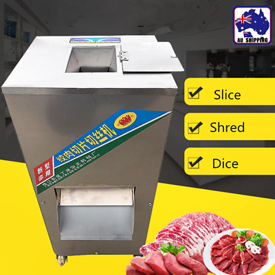 1x Electric Meat Slicers Cutter Shredding Machine Slicing Restaurant HKCU94088