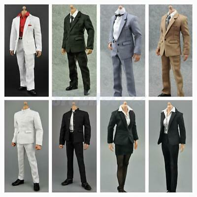 """1:6 Scale Career Formal Suit 12"""" Male/Female Action Figure Clothes Accessories"""