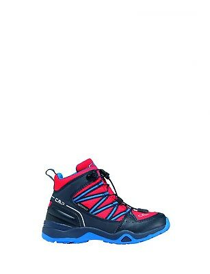 CMP trekking shoes hiking boots red waterproof quick Lacing